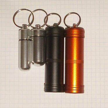 Герметичный брелок контейнер для таблеток алюминиевый купить