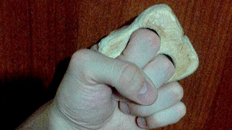Деревянный кастет на 2 пальца на руке