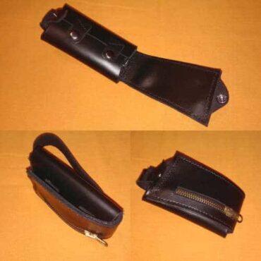Слеппер кошелек-ключница из кожи