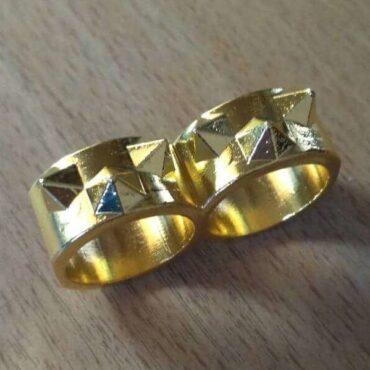Шипастое двойное кольцо самообороны