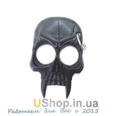 Пластиковый кастет череп на 2 пальца купить