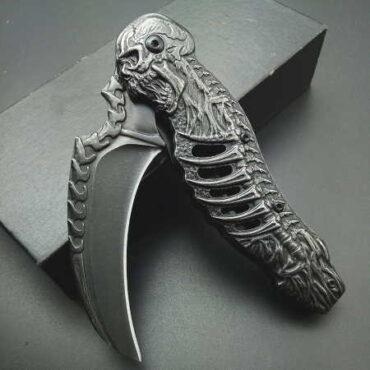 """Складной нож керамбит """"Скелет"""" купить"""