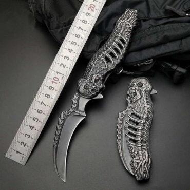 Нож складной керамбит скелет Aliexpress