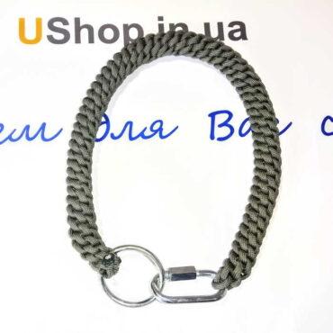 Плетеный шнур с карабином для самообороны