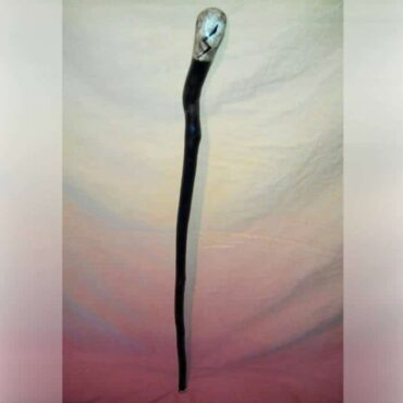 Деревянная трость Шиллейла с узорами